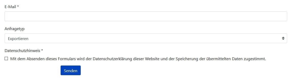Joomla DSGVO - Ratgeber und Anleitung. Anfrageformular.
