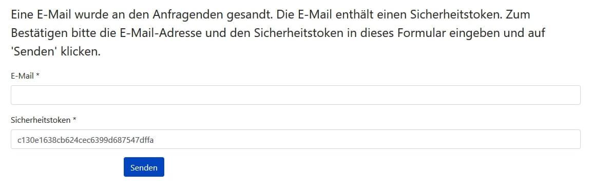 Joomla DSGVO - Ratgeber und Anleitung. Formular für die Bestätigung.