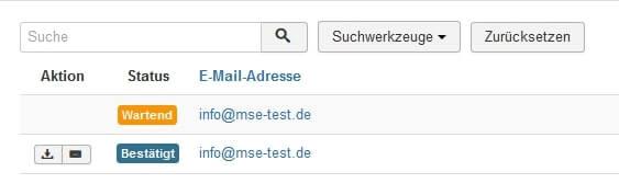 Joomla DSGVO - Ratgeber und Anleitung. Übersicht Anfragen und Statusprüfung.