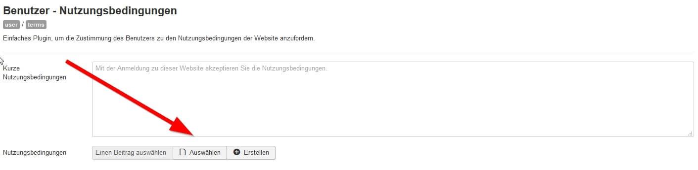 Joomla DSGVO - Ratgeber und Anleitung. Plugin für Nutzungsbedingungen - Beitrag zuordnen.