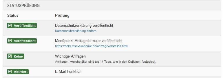 Joomla DSGVO - Ratgeber und Anleitung. Datenschutz Kontrollzentrum - Statusprüfung.