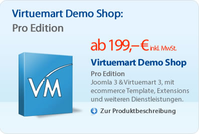 Virtuemart Demo Shop - Pro Edition