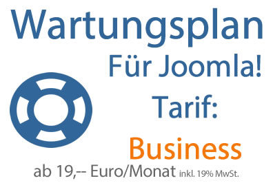 Wartungsplan Joomla - Tarif Business