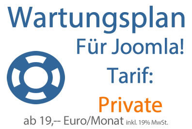 Wartungsplan Joomla - Tarif Private