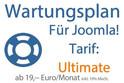 Wartungsplan Joomla - Tarif Ultimate